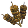 File:Breath of the Wild Food Dish (Skewers) Gourmet Spiced Meat Skewer (Icon).png
