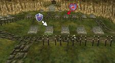 Cementerio Escudo Hylian Pieza Corazón OoT