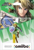 Embalaje americano del amiibo de Link - Serie Super Smash Bros.