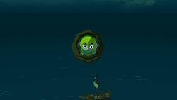 Link siendo catapultado a la Isla del Diablo en TWW HD