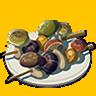 File:Breath of the Wild Food Dish (Skewers) Copious Mushrooms Skewers (Icon).png