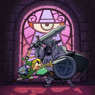 Link combatte un <a href=