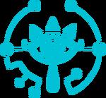 BotW Logo Sheikah azul
