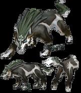 Link lobo concepto de arte