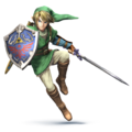Link en Super Smash Bros Wii U 3DS