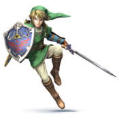 Link en Super Smash Bros Wii U 3DS