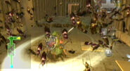 Link matando ácaros venenosos
