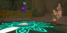 Link tocando la melodía Poder de Din.