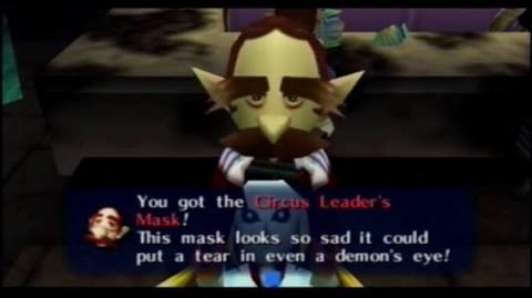 Majora's Mask - Careta del jefe de la compañía