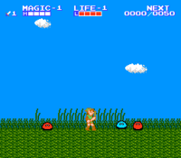 Gameplay (The Adventure of Link)