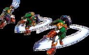 Link ejecutando el Ataque Circular artwork OoT