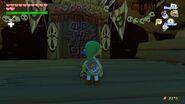 Link observando la entrada a los aposentos de Ganondorf en TWW HD