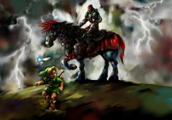Young Link and Ganondorf