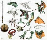 Concept Art Aéralfos Hyrule Historia
