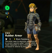 Breath of the Wild Rubber Armor (Body Armor) Rubber Armor (Inventory)