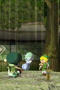 Link y Valvio tocando la Melodía de los Bosques ST