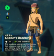 Breath of the Wild Climber's Gear (Head Armor) Climber's Bandanna (Inventory)