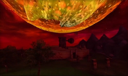 La Luna precipitándose en MM 3D