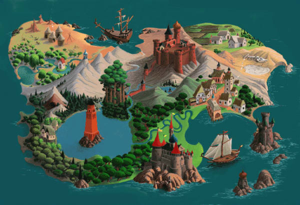 Gamelon zeldapedia fandom powered by wikia a map of gamelon gumiabroncs Image collections