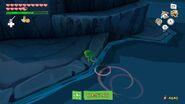 Link llegando a la Isla del Volcán en TWW HD