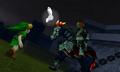 Ganondorf y Link OoT3D