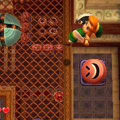 Link viene lanciato in aria