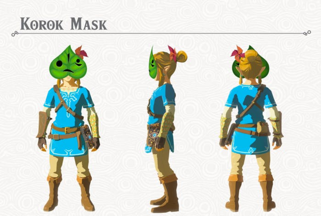File:Breath of the Wild DLC Armor Korok Mask (Head Armor).png