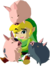 Link and Pigs