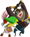 Moblin attacking Link
