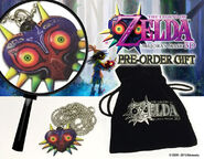 Anuncio del collar y la bolsa The Legend of Zelda Majora's Mask 3D