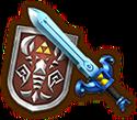 Espada ligera del Más Allá Escudo de madera arcano HW