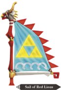 Hyrule Warriors Legends Sail Sail of Red Lion (Render)