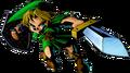 Link atacando con la Espada Kokiri 2 artwork MM 3D
