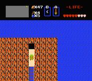 Link entrando a la cueva en la Primera Búsqueda
