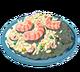 Riz frit de la mer