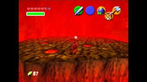 The Legend of Zelda Ocarina of The Time - Boss 5 - Volvagia
