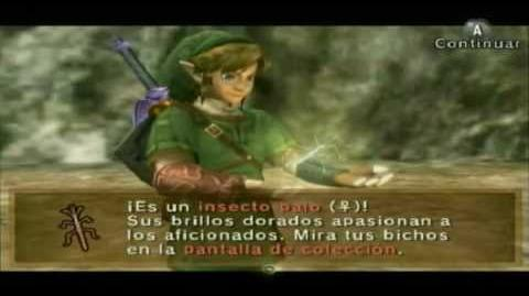 The legend of Zelda twilight princess Bichos dorados Golden bugs parte 1 (Español)