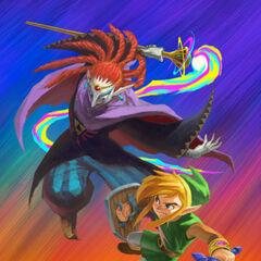 Link e Yuga combattono