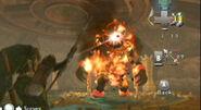 Link atacando a Pyrus