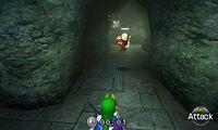 Link y Dampé corriendo