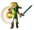 Link usando Lámpara Artwork