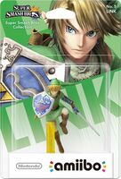 Embalaje europeo del amiibo de Link - Serie Super Smash Bros.