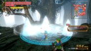 Hyrule Warriors Spear Magic Circle Ice Crystals