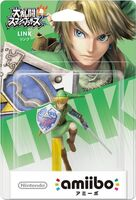 Embalaje japonés del amiibo de Link - Serie Super Smash Bros.