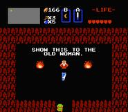 Link frente al Anciano y la Carta