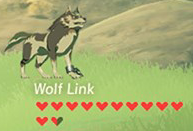Link lobo Corazones BotW