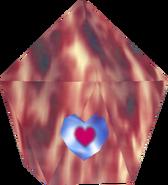 Pieza de corazón en Hielo Rojo