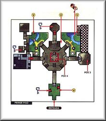 Mapa del Templo del Bosque OoT