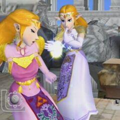 Zelda, come appare nel gioco