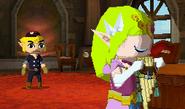 Zelda toca Flauta Terrenal ST